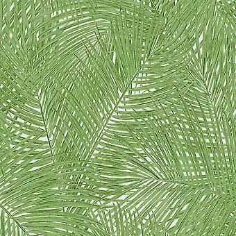 Szumátra pálmalevél tapéta zöld AS létrehozása AS373715