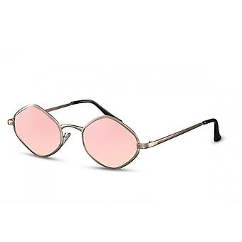 Lunettes unisexes ovales cat.3 or/rose (CWI2299)