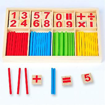 Children Wooden Educational Toys- Digital Stick Montessori Teaching Aid Montessori Mathematics Enlightenment for Baby Gift (As Picture)