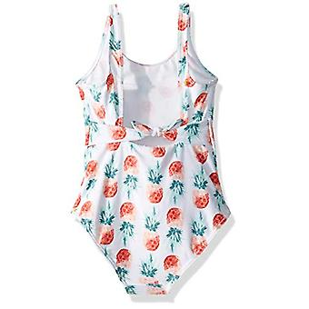 Roxy Big Girls ' eräänlainen hauska yksiosainen uimapuku, kirkas valkoinen näyte pieni ananas, 10