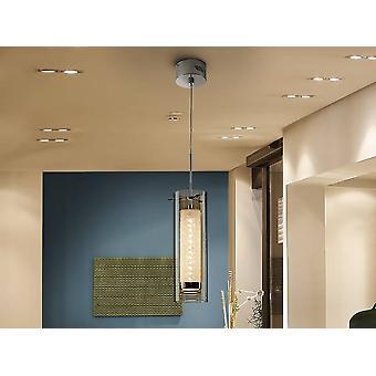 Led Cristal Plafond Pendentif Chrome intégré