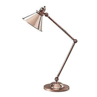 Elstead Provence - 1 Lampe de table légère Cuivre Poli, E27