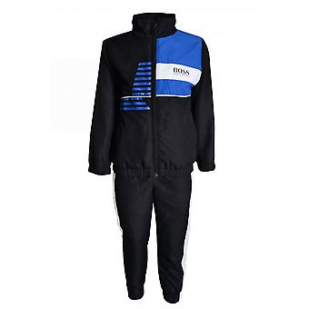 Hugo Boss Boys Hugo Boss Boy's Black And Blue Tracksuit