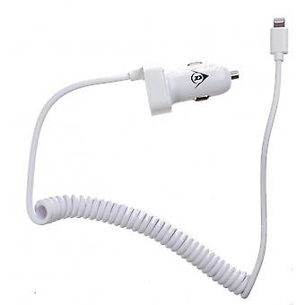 autolader Apple Lightning 12/24 Volt 2,1 Ampère wit