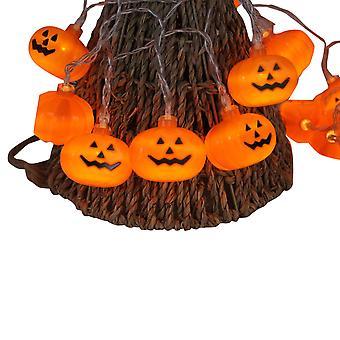 Halloween pumpkin lantern string garden bedroom decoration, LED fairy light battery powered