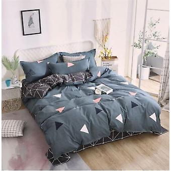 Klassische Bettwäsche Set - Bettbezug Blume Bettwäsche