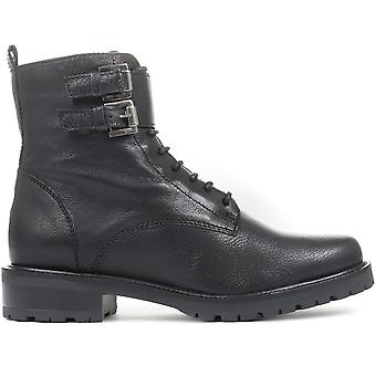 Jones Bootmaker Womens Rome Leather Commando Boots