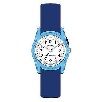 Lorus Chidrens Analoguhr Navy Blue Silikonband mit weißem Zifferblatt R2385MX9