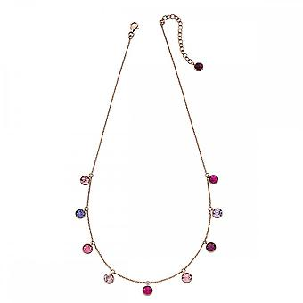 Elements Silver Rose Gold Pink Purple Swarovski Charm Necklace N4312