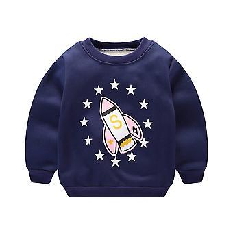 "Baby""s Autumn Winter Sweatshirt - -boys Girls Warm Cover Hatless Sanitary"