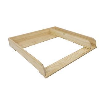Fixação sinuosa Puckdaddy Peter 80x78x10cm feito de madeira com compartimento de separação adequado para baús de gavetas IKEA Malm