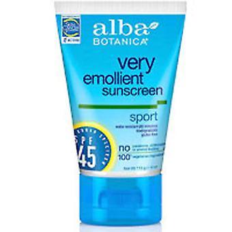 Alba Botanica Sunscreen Sport, SPF 45, 4 oz