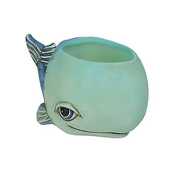 Allen progetta Baby Blue Whale Indoor / Outdoor Decorative Mini Planter