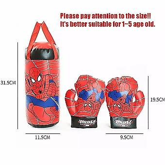 Spider Man Kids Toy Gloves Sandbag Suit Boxe Sports de plein air pour l'interaction