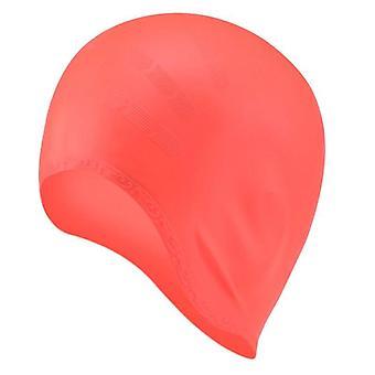 Casquettes de natation adultes, Hommes / Femmes Cheveux longs Piscine imperméable à l'eau Cap- Oreille