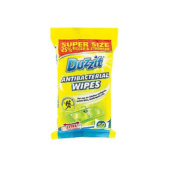 Duzzit Anti-Bacterial Wipes 50 Pack DZT002A