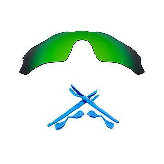 Polarized Replacement Lenses Kit for Oakley Radar EV Path Green Mirror Blue Anti-Scratch Anti-Glare UV400 by SeekOptics