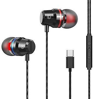 Type-c Metal in-earphone Heavy Bass السلكية سماعة التحكم