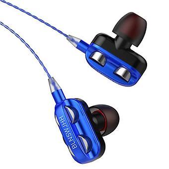 Bluelans Dual Driver Earphones AUX 3.5mm - Earphones Wired Earphones Earphones Blue