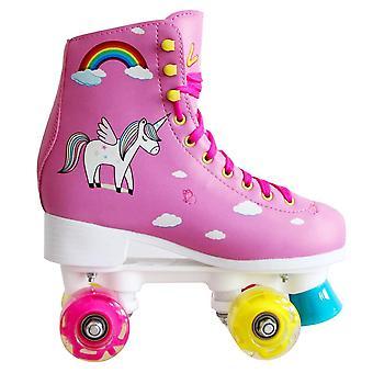 4 عجلات، والتوازن ليد، مزدوجة الأسطوانة التزلج على الجليد للمبتدئين، فتاة،