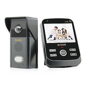 300.000 Pixeli 3.5 LCD 2.4Ghz Wireless Intercom Door Telefon Doorbell Kdb303