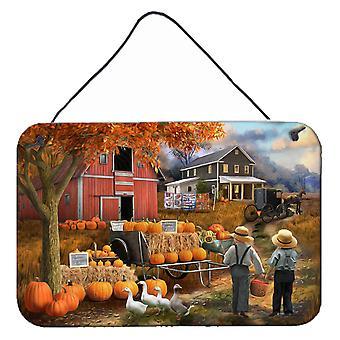 Fall Amish Pumpkin Stand Vägg eller dörr hängande utskrifter