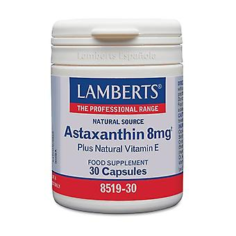 Astaxanthin 8 mg with natural Vitamin E 30 capsules