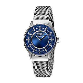 Ferre Milano Ladies D. Blue Dial  Mesh Watch