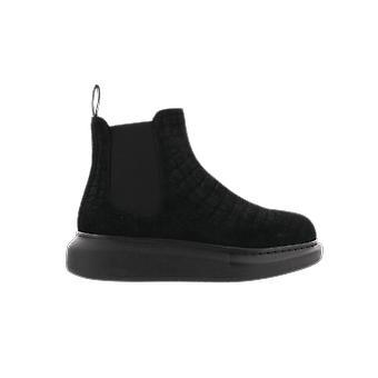 Alexander McQueen H.Boot Leathe.S.Rubb Mokkanahka Cro Musta 650804WHZH11000 kenkä