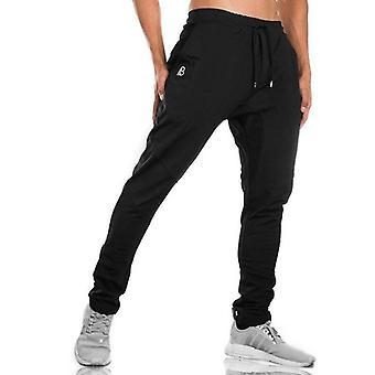 Men's Gym Training Jogging Pants With Zip & Pocket