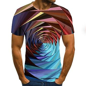 Summer Three-dimensional 3d Vortex Hip Hop Cute Tshirt/women