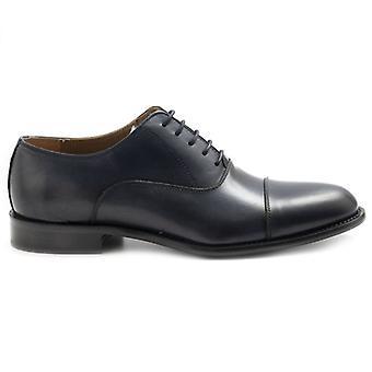 Zapato de encaje para hombre Sangiorgio piel azul oscuro