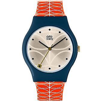 Orla Kiely Unisex Adult Analogue Classic Quartz Watch with plastic Strap
