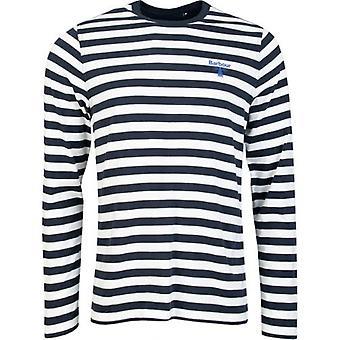 Barbour Beacon Beacon μακρύ μανίκι ριγέ t-shirt