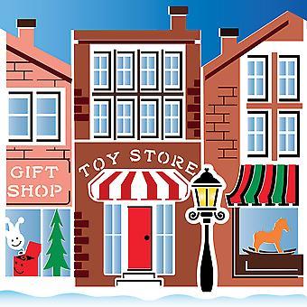 LDRS Navidad creativa en Main Street 6x6 pulgadas plantilla