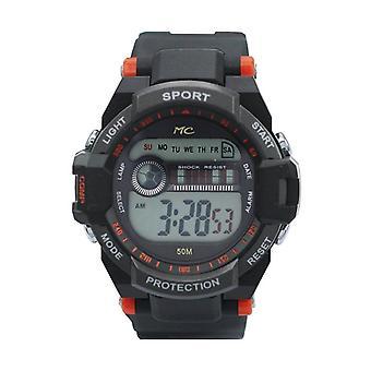 Orange Digital Lcd Uhr