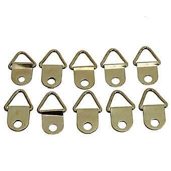 Brass Triangle Picture Frame Wall Mount Hanger Hook Ring