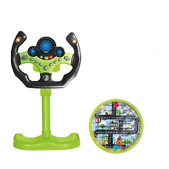 Eletricシミュレーションステアリングホイールおもちゃとライトサウンドベビーキッズミュージカル教育副操縦士ステアリングホイールボーカルおもちゃ