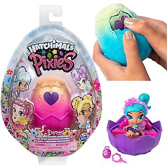 Hatchimals 6047278 pixies, 2.5-inch collectible doll and accessories (styles may vary), for kids age