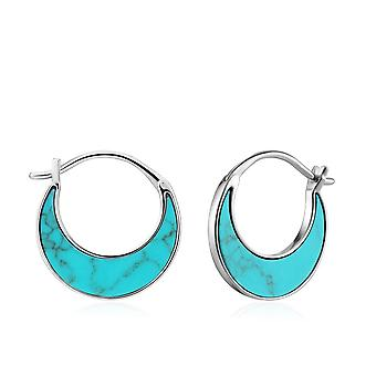 Ania Haie Rhodium Tidal Turquoise Crescent Earrings E027-07H