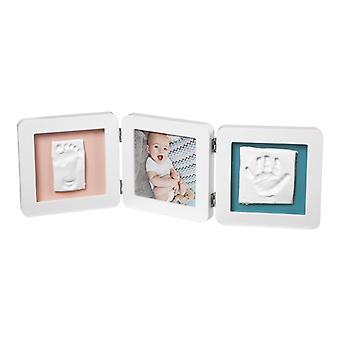 De kunst van de baby mijn baby aanraking 2 gegoten met fotokader wit