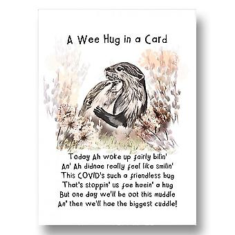 Embroidered Originals Otters - A Wee Hug In A Card Jb13