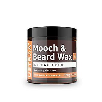 Ustraa Beard & Mooch Wax - Strong Hold - 3.5 Oz
