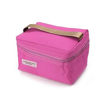 Portable Thermal Insulated Lunch Box, School Food Storage Bag, Waterproof,