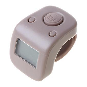 Mini Rechargeable Digital Lcd Electronic Finger Ring, Décompte des mains, Bouddha