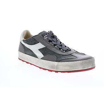 Diadora B.Original H Suede Stone Wash  Mens Gray Suede Lifestyle Sneakers Shoes