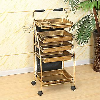 Hairdressing Cart Hair Salon Stroller Hairdressing Tool Car Beauty Cart Barber
