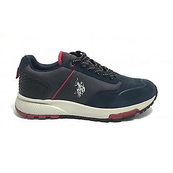 Running Us Polo Men's Sneaker Mod. Heck In Suede Color Dark Blue U20up06
