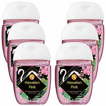 HandiGel Pocket Size Hand Sanitizers Antibacterial Gel, 29ml-Hawaiian Pink, 8pk
