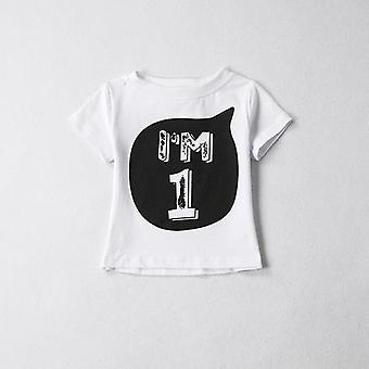 T-shirt de numéro d'anniversaire de vêtement d'enfant de chemise d'été